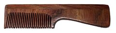 Hřeben z palisandrového dřeva s rukojetí