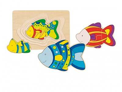 Vícevrstvé puzzle – ryba Goki