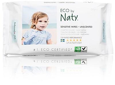 ECO vlhčené ubrousky Naty bez vůně - pro citlivou pokožku (56 ks)
