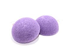 Špongia konjac - fialová špongia na tvár, bochníček