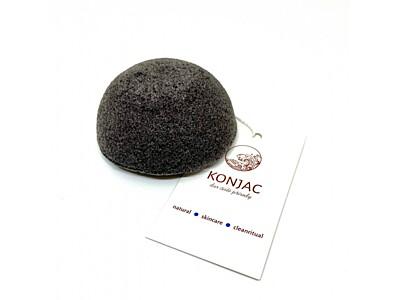 Konjac - Černá houbička na obličej, bochánek