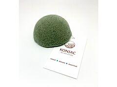 Konjac - Tmavozelená houbička na obličej, bochánek