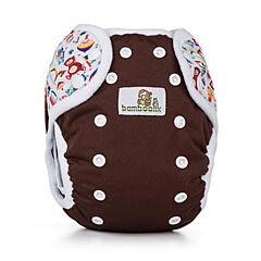 Svrchní kalhotky na patentky Duo Bamboolik - čokoláda + hračky