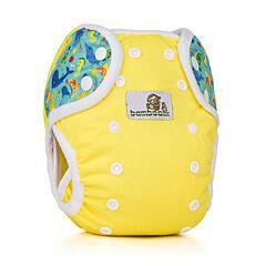 Svrchní kalhotky na patentky Duo Bamboolik - žlutá + moře