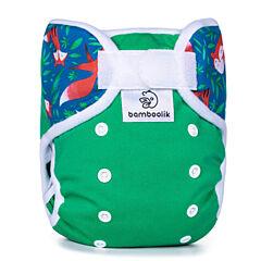 Svrchní kalhotky Duo Bamboolik - zelená + lišky