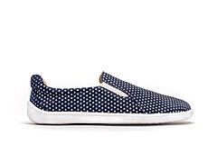 Barefoot boty Be Lenka Eazy kožené Dark Blue with Dots 36