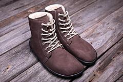 Barefoot kotníkové boty Be Lenka Winter Chocolate - 36