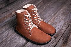 Barefoot kotníkové boty Be Lenka Winter Cognac - 38