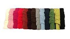 Návleky vlněné jednobarevné Diba - neutrální barvy