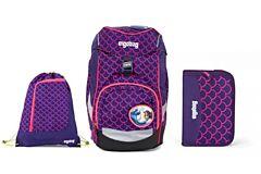 Batoh školní Ergobag prime Fluo růžový 2020 - set penál + sportovní pytel