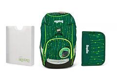 Batoh školní Ergobag prime Fluo zelený 2020 - set penál + desky