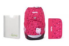 Batoh školní Ergobag prime Pink Hearts 2020 - set penál + desky