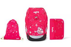 Batoh školní Ergobag prime Růžový 2020 - set penál + sportovní pytel