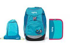 Batoh školní Ergobag prime Tropical 2020 - set penál + sportovní pytel