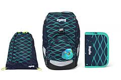 Batoh školní Ergobag prime Waves 2020 - set penál + sportovní pytel