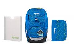 Batoh školní Ergobag prime modrý Zig Zag 2020 - penál + desky
