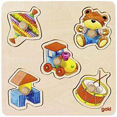 Vkládací dřevěné puzzle – moje hračky Goki