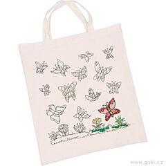 Bavlněná taška k vymalování – Motýli - Goki