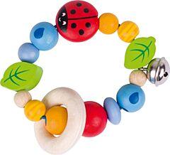 Beruška – dřevěná hračka pro miminka (Heimess soft colors)