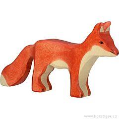 Liška stojící - dřevěné zvířátko z lesa Holztiger