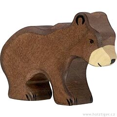 Holztiger - dřevěné medvídě, hnědé