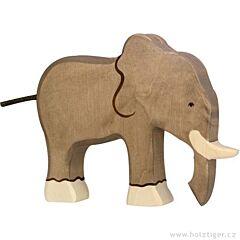 Dřevěný slon stojící Holztiger