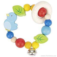 Ptáček – elastická hračka pro miminka Heimess