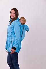 ALICE nosící softshell bunda Jožánek - S/M, světle modrý melír