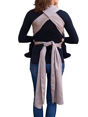 Ergonomické rostoucí šátkové nosítko s vázacími ramenními popruhy Aneta - Jožánek, hnědé