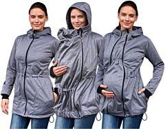 PAVLA 2 nosící softshell bunda Jožánek - S/M, šedý melír