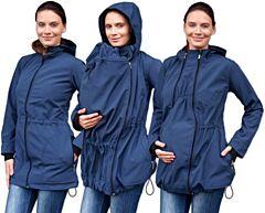 PAVLA 2 nosící softshell bunda Jožánek - S/M, tmavě modrá