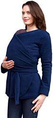 Těhotenský a nosící zavinovací fleecový kabátek ZINA tmavě modrý Jožánek - M/L
