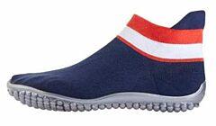 Leguano Sneaker modrá, červeno-bílý pruh XS