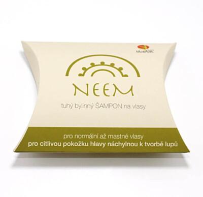 Libebit tuhý bylinný šampon NEEM v papírové krabičce