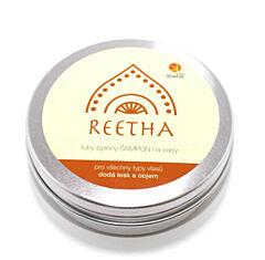 Libebit tuhý bylinný šampon REETHA v plechové krabičce