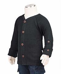 Manymonths kabátek merino 18 Foggy Black Newcomer/Charmer 0-6/9 měs.