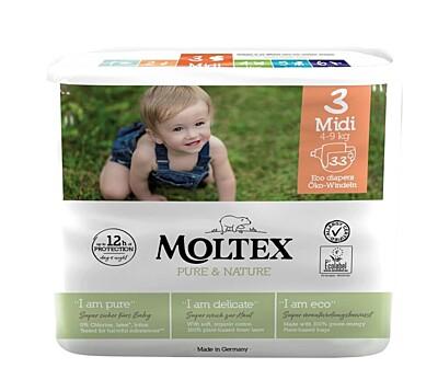 Plenky Moltex Pure & Nature 3 Midi 4-9 kg (33 ks)