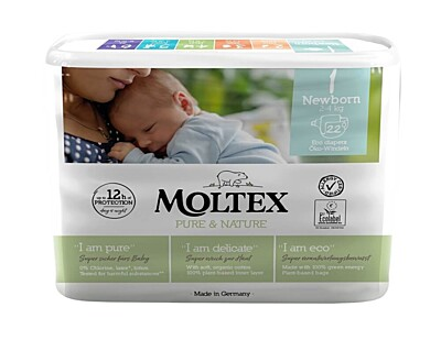 Plenky Moltex Pure & Nature 1 Newborn 2-4 kg (22 ks)