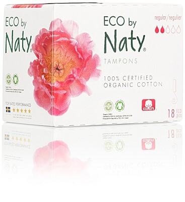 Dámské ECO tampony Naty - regular (18 ks)