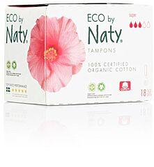 Dámské ECO tampony Naty - super (18 ks)