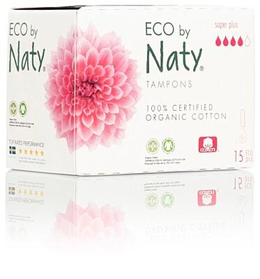 Dámské ECO tampony Naty - super plus (15 ks) - Doprodej