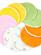 Vložky do podprsenky Petit Lulu - barevné - 5párů