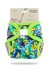 Svrchní kalhotky PUL na suchý zip Petit Lulu - Džungle