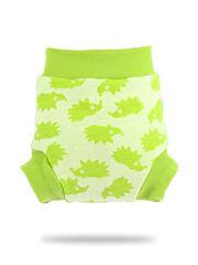 Vlněné svrchní kalhotky - Zelení ježci - S
