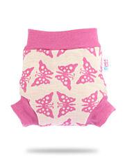 Vlněné svrchní kalhotky - Růžoví motýlci - M
