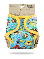 Svrchní kalhotky PUL na patentky Petit Lulu - Džungle ve škole