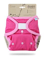 Svrchní kalhotky PUL na suchý zip Petit Lulu - Růžové