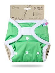 Svrchní kalhotky PUL na suchý zip Petit Lulu - Zelené