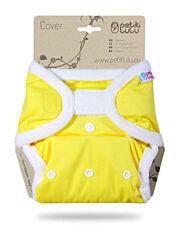 Svrchní kalhotky PUL na suchý zip Petit Lulu - Žluté