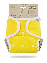 Svrchní kalhotky PUL na patentky Petit Lulu - Žluté
